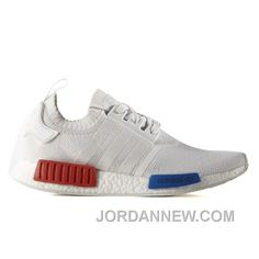Adidas Nmd Primknit Og White Red Blue as seen on Cruz Beckham