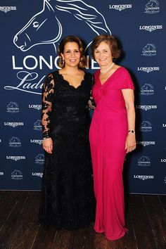 (L-R) Her Royal Highness Princess Haya Al Hussein and Nathalie Belinguier during the Longines Ladies Awards Ceremony at Hampton Court Palace on June 15, 2015 in London, England.