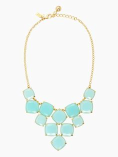 Kate Spade shaken and stirred statement necklace