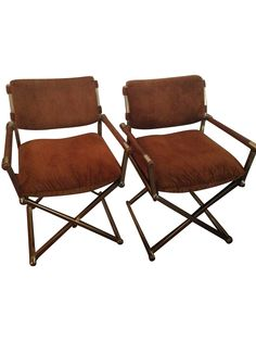 Milo Baughman Vintage Director Chairs   A Pair On Chairish.com