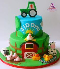 Barn Theme Cake