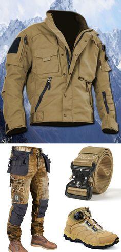 Tactical Wear, Tactical Jacket, Tactical Clothing, Mens Outdoor Fashion, Mens Fashion, Mens Outdoor Jackets, Mode Man, Herren Outfit, Training Tops