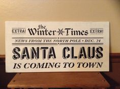 Large Christmas Sign Santa Claus Is Coming To Town Christmas Decor Wood Holiday Wall Decor Wood Christmas Decoration Holiday Decoration Home Decor Christmas Signs, Christmas Decorations, Holiday Decor, Hanging Signs, Wall Signs, Holiday Party Games, Dining Room Wall Art, Santa Claus Is Coming To Town, Winter Home Decor