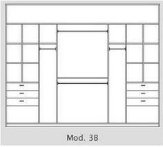 Placard 3m de ancho mod B