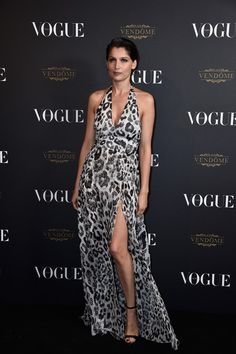 Laetitia Casta attends the Vogue 95th Anniversary Party on October 3, 2015 in Paris, France.