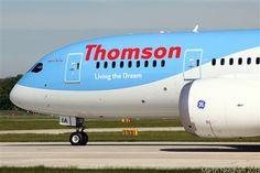 Thomson Airways Boeing 787-800 Dreamliner Thomson Airways, Cargo Airlines, Commercial Aircraft, Civil Aviation, Airports, Spacecraft, Airplane, Planes, Britain