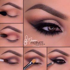 ABC Make Up Foundation Eyebrow Eyeliner Blush Cosmetic Concealer Brushes (Rose Gold) - Cute Makeup Guide Eye Makeup Steps, Smokey Eye Makeup, Eyeshadow Makeup, Makeup Tips, Makeup Ideas, Drugstore Makeup, Easy Eyeshadow, Matte Eyeshadow, Smoky Eye