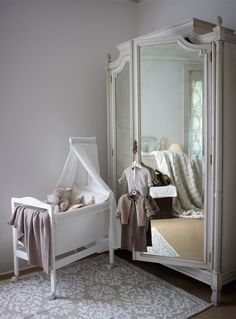 I really like this wardrobe, it's ornate, feminine and it saves having a separate mirror when space is limited.