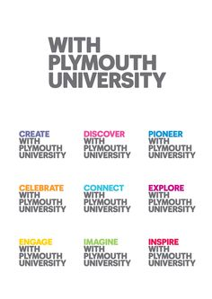 """""""With Plymouth University"""" identity"""