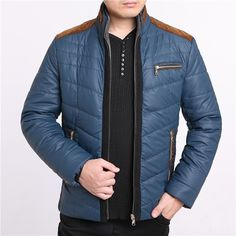 31.89$  Know more  - 4 Colors Elderly Men's Jacket Casual Padded Collar Men's Coat Winter 2015 Parkas Man XXXL Plus Size Waterproof High Quality