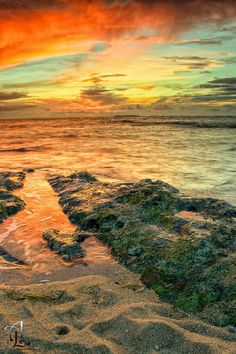 """Color Sunset - Piñones "" Loiza, Puerto  by Angel López"