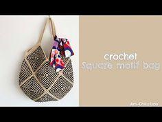 エコアンダリヤで本当に使いたいバッグを編んでみた! - YouTube Knitted Bags, Crochet Bags, Crochet Patterns, Crochet Ideas, Straw Bag, Pouch, Diy Projects, Purses, Sewing