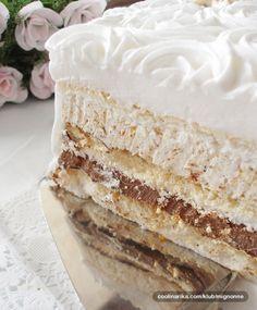 Meringue cake Oh My! Galaktoboureko Recipe, Cake Cookies, Cupcake Cakes, Cupcakes, Baking Recipes, Cookie Recipes, Torta Recipe, Kolaci I Torte, Torte Cake