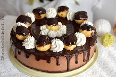 Mousse, Romanian Desserts, Profiteroles, Christmas Cupcakes, Candy Buffet, Something Sweet, Cake Cookies, How To Make Cake, Food Inspiration