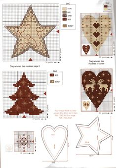 Gallery.ru / Фото #6 - Point de Croix 2010 45 - Ulka1104 Cross Stitch Needles, Cross Stitch Heart, Cross Stitch Designs, Cross Stitch Patterns, Cross Stitching, Cross Stitch Embroidery, Christmas Sewing Patterns, Yule, Christmas Embroidery