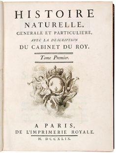 BUFFON, (G.L.L.) & LACEPEDE, (B.G.E.). Histoire Naturelle, Générale et Particulière, avec la description du Cabinet du Roi. Paris, l' Imprimerie Royale, Hôtel de Thou, Plassan, 1749-1804. 44 volumes. 4to (248 x 185mm). With1 engraved portrait of Buffon, 4 folded tables, ... EUR 40,000.00