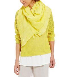 Eileen Fisher Modal, Linen and Silk Scarf