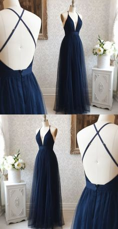 Navy Blue Dress for Party, Simple Prom Dresses Source by SevenProm dresses fashion gowns Navy Blue Prom Dresses, Grad Dresses Long, Pretty Prom Dresses, Beautiful Maxi Dresses, Simple Prom Dress, Formal Dresses For Teens, Special Dresses, Navy Dress, Club Dresses