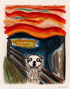 "Artist Shitty Watercolour's ""The Screamin' Sloth"""