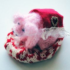 Pig in Blanket Ornament - Knitted Textile, Paradis Terrestre - Luxury British Made Accessories & Homeware