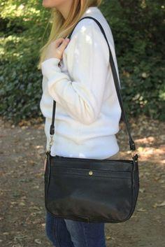 Vintage Black LL Bean Leather Bag $48.00