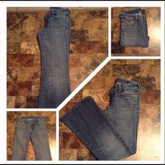 "Citizens of Humanity Margo Style Jeans Last photo is model wearing this style of Jeans. The first 3 pics of actual item/color. Size 29 Waist. #085 Margo Style. BootCut. Rise ""8.5. Length ""39. Inseam ""30. Laying flat ""14.5.  This item is NOT new, It is used and in Good condition. Authentic and from a Smoke And Pet free home. All Offers through the offer button ONLY.  Ask any questions BEFORE purchase. Please use the Offer button, I WILL NOT negotiate in the comment section. Thank You Citizens…"