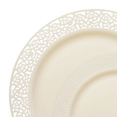 Save on fancy lace ivory plastic plates dinnerware value set that look pretty real for holiday catering and discount weddings on a budget.  sc 1 st  Pinterest & 1258 Lace Ivory Plastic Dinnerware Value Set | My sweet 16 ideas ...