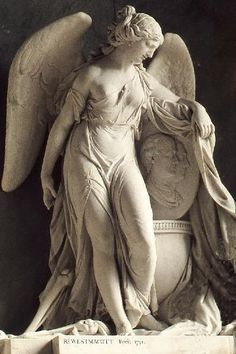 ☫ Angelic ☫ winged cemetery angels and zen statuary - Cemetery Angels, Cemetery Art, Angels Among Us, Angels And Demons, Statue Ange, Art Manga, Manga Girl, I Believe In Angels, Ange Demon