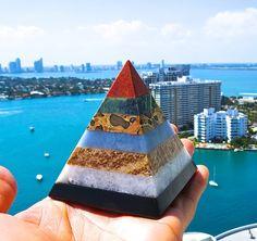 7 Chakra Healing Stones Pyramid by BenitoArvizo on Etsy, $49.99
