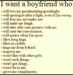 Describes the PERFECT boyfriend