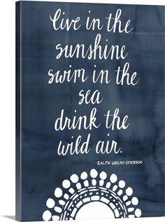 Sun Quote I Photo Canvas Print | Great Big Canvas