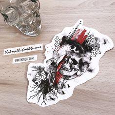 trash polka skull raven eyes geometric pattern tree tattoo design illustration a… Abstract Tattoo Designs, Angel Tattoo Designs, Geometric Tattoo Design, Tattoo Sleeve Designs, Sleeve Tattoos, Tattoo Trash, Trash Polka Tattoo, Arte Trash Polka, Foo Dog