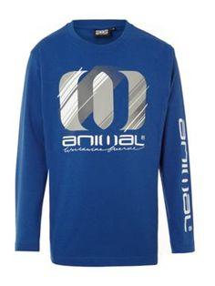Animal Boy`s bash basic long sleeve t-shirt Blue - House of Fraser