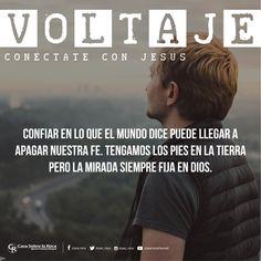 Tengamos los pies en la tierra pero la mirada siempre fija en Dios. #ConéctateConJesús http://devocional.casaroca.org/jv/13jul