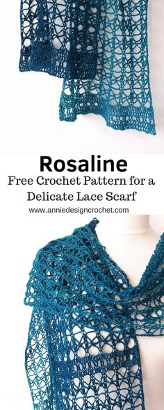 An easy open lace pattern is used to create this delicate crochet scarf. Perfect for draping as a light evening wrap, or winding around your neck as a statement scarf. This free pattern is beginner friendly, and a relaxing crochet project to make. Crochet Lacy Scarf, Crochet Wrap Pattern, Crochet Fabric, Crochet Shawls And Wraps, Lace Scarf, Crochet Scarves, Easy Crochet, Crochet Patterns, Lace Knitting