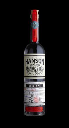 Hanson of Sonoma, Organic Vodka. Designed by Stranger & Stranger,  New York