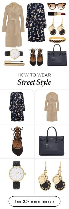 """#Street Style: Ankle Wrap Flats"" by sandycyh on Polyvore featuring Oasis, Aquazzura, Yves Saint Laurent, Marc by Marc Jacobs, Bobbi Brown Cosmetics, The Row, Dolce&Gabbana, Halcyon Days, Valentino and Kate Spade"