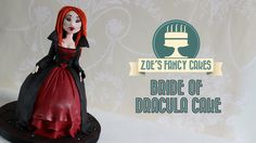 In this video I show you how to make a fondant bride of dracula doll cake or cupcake. You could use fondant, flower paste, mexican paste, sugar paste or gum . Halloween Wedding Cakes, Halloween Bride, Halloween Doll, Halloween Party Costumes, Halloween Cakes, Cute Halloween, Halloween Foods, Maleficent Cake, Zoes Fancy Cakes