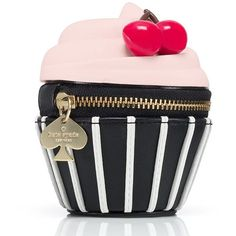 Kate Spade Magnolia Bakery Cupcake Coin Purse ($98) ❤ liked on Polyvore featuring bags, handbags, shoulder bags, leather crossbody, crossbody purse, kate spade purses, leather shoulder bag and leather coin pouch