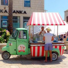 is it a cart is it a truck? It's fabulous!  We love this Piaggio Ape from the gorgeous islands of Croatia.  shot by @notsorandompics. _