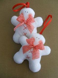 Artesanía de Navidad de fieltro: Christmas Ornament Crafts, Snowman Ornaments, Christmas Sewing, Christmas Snowman, Xmas Crafts, Christmas Tree Decorations, Felt Decorations, Decoration Noel, Christmas Projects