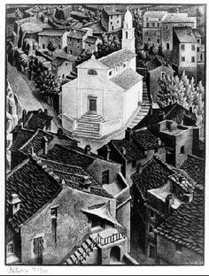 M.C. Escher – Nonza, Corsica, 1934 Lithograph