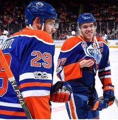 Leon Draisaitl & Connor McDavid of the Edmonton Oilers
