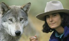 Jamie and Friend--Jim and Jamie Dutcher Photo-Living With Wolves