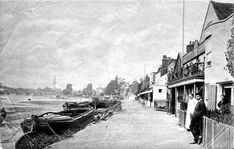 Strand on the Green, Chiswick, 1878 Vintage London, Old London, West London, Old Photos, Vintage Photos, Richmond Upon Thames, Brentford, English Heritage, London Photos