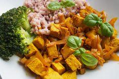 Tofu na kari Tofu, Chicken, Meat, Ethnic Recipes, Cubs
