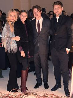 Double date: During their time together the two shared  posed with friends and attendees, Olivia Palermo and husband Johannes Huebl - February 14, 2016