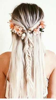 Perfect hairdo...without the flowers