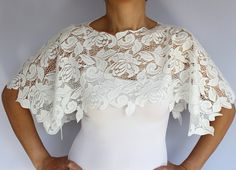 White Lace Bridal Bolero in Shabby Chic It's by MammaMiaBridal, $35.00