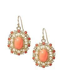 Coral Brooch Earring Banana Republic $39.50